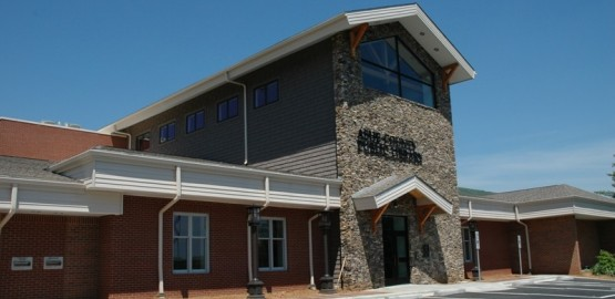 ashe county library exterior